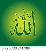 Купить «Name of Allah in Arabic», фото № 33241989, снято 5 июня 2020 г. (c) PantherMedia / Фотобанк Лори
