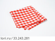 red and white napkin. Стоковое фото, фотограф Alena Dvorakova / PantherMedia / Фотобанк Лори