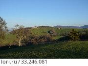 Купить «aschach on the steyr,pre-alpine,upper austria,steyrtal,ennstal,hill,farm,vierkanthof», фото № 33246081, снято 26 мая 2020 г. (c) PantherMedia / Фотобанк Лори