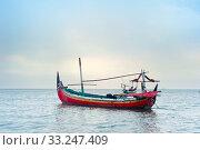 Купить «Javanese fisherman boat», фото № 33247409, снято 3 июля 2020 г. (c) PantherMedia / Фотобанк Лори