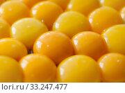 Yellow egg yolks. Стоковое фото, фотограф Anastasiya Rutkovskaya / PantherMedia / Фотобанк Лори