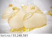 Christmas ball baubles. Стоковое фото, фотограф Carlos Santos / PantherMedia / Фотобанк Лори