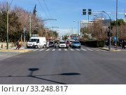 Купить «Central street in Athens (Greece)», фото № 33248817, снято 26 февраля 2020 г. (c) Татьяна Ляпи / Фотобанк Лори
