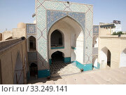The portal at the entrance of the Amir Chakhmaq Mosque at Yadz,  Iran. The mosque is located in a square with the same name. Стоковое фото, фотограф Maurizio Bersanelli / PantherMedia / Фотобанк Лори