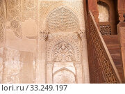 Architecture details of the Jame Mosque at Nain,  Iran. Jame mosque is one of the oldest mosque in Iran. Стоковое фото, фотограф Maurizio Bersanelli / PantherMedia / Фотобанк Лори