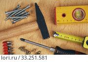 Купить «Set of manual Working tools», фото № 33251581, снято 29 февраля 2020 г. (c) PantherMedia / Фотобанк Лори