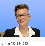 Bochum, Germany, January 31, 2020, ThyssenKrupp Annual General Meeting: Tanja Jacquemin, member of the Supervisory Board of ThyssenKrupp AG and expert... Редакционное фото, фотограф Jürgen Schwarz / age Fotostock / Фотобанк Лори