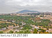 Пейзаж. Вид на город и горы. Фес. Марокко (2013 год). Стоковое фото, фотограф Сергей Афанасьев / Фотобанк Лори