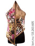 Купить «Женский шарф из валяной шерсти на манекене», фото № 33263605, снято 26 января 2020 г. (c) V.Ivantsov / Фотобанк Лори