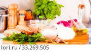 Купить «Image of Bread on the wood cutting board», фото № 33269505, снято 28 февраля 2020 г. (c) Татьяна Яцевич / Фотобанк Лори