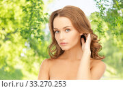 Купить «beautiful woman with curly hair», фото № 33270253, снято 10 октября 2010 г. (c) Syda Productions / Фотобанк Лори