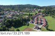 Купить «Picturesque top view of city Vrhnika. Republic of Slovenia», видеоролик № 33271189, снято 4 сентября 2019 г. (c) Яков Филимонов / Фотобанк Лори