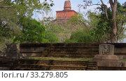 Купить «На древних руинах Анарадхапуры. Шри-Ланка», видеоролик № 33279805, снято 6 февраля 2020 г. (c) Виктор Карасев / Фотобанк Лори