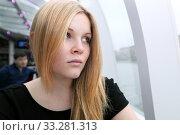 Девушка - блондинка смотрит грустно в бок. Русская, красивая. Стоковое фото, фотограф Elizaveta Kharicheva / Фотобанк Лори