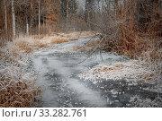 Купить «Frosty november landscape», фото № 33282761, снято 25 ноября 2019 г. (c) Julia Shepeleva / Фотобанк Лори