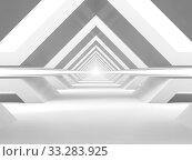 Купить «Abstract empty white tunnel perspective background», иллюстрация № 33283925 (c) EugeneSergeev / Фотобанк Лори