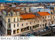 Купить «View on roof of houses in Valence in France», фото № 33296657, снято 7 декабря 2017 г. (c) Яков Филимонов / Фотобанк Лори