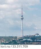 Купить «TV tower in Baku Azerbaijan», фото № 33311709, снято 18 июля 2015 г. (c) Elnur / Фотобанк Лори