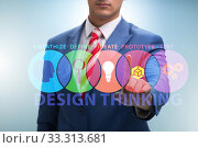 Купить «Design thinking concept in software development», фото № 33313681, снято 2 июня 2020 г. (c) Elnur / Фотобанк Лори