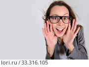 Купить «Businesswoman with a fun attitude», фото № 33316105, снято 9 апреля 2020 г. (c) PantherMedia / Фотобанк Лори
