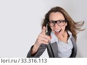 Купить «Businesswoman with a fun attitude», фото № 33316113, снято 9 апреля 2020 г. (c) PantherMedia / Фотобанк Лори
