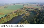 Купить «Impressive autumn landscape of trees and river», видеоролик № 33336325, снято 15 октября 2019 г. (c) Яков Филимонов / Фотобанк Лори