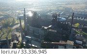Купить «View of closed metallurgical plant in Vitkovice (Ostrava), Czech Republic», видеоролик № 33336945, снято 17 октября 2019 г. (c) Яков Филимонов / Фотобанк Лори