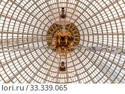 Купить «Moscow, Russia - November 28, 2018: Glass dome of the Space Cosmos pavilion at VDNH - Exhibition of Achievements of National Economy.», фото № 33339065, снято 28 ноября 2018 г. (c) easy Fotostock / Фотобанк Лори