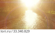 Купить «Low altitude flight over fresh fast mountain river with rocks at sunny summer morning.», видеоролик № 33340829, снято 1 апреля 2019 г. (c) Александр Маркин / Фотобанк Лори
