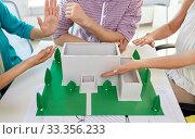 Купить «creative team building project layout at office», фото № 33356233, снято 17 мая 2014 г. (c) Syda Productions / Фотобанк Лори