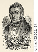 Купить «Portrait of Manuel Breton de los Herreros (Quel 1796 - Madrid 1873). Spanish playwright, poet and journalist. Romanticism movement. Genre Theater and poetry...», фото № 33362489, снято 12 февраля 2020 г. (c) age Fotostock / Фотобанк Лори
