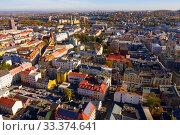 Купить «View from drone of Ostrava, Czech Republic», фото № 33374641, снято 17 октября 2019 г. (c) Яков Филимонов / Фотобанк Лори