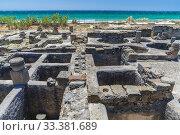 Купить «Baelo Claudia, Roman town ruins, Playa de Bolonia, Cadiz Province, Spain, Europe.», фото № 33381689, снято 1 июня 2019 г. (c) age Fotostock / Фотобанк Лори