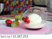 Купить «Tiramisu with strawberries, blueberries and mint», фото № 33387253, снято 12 февраля 2019 г. (c) Марина Володько / Фотобанк Лори