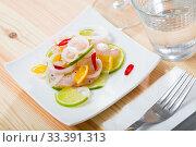Shrimp ceviche with lime. Стоковое фото, фотограф Яков Филимонов / Фотобанк Лори