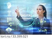 Digital transformation and digitalization technology concept. Стоковое фото, фотограф Elnur / Фотобанк Лори