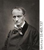 Купить «Charles Pierre Baudelaire, 1821-1867. French poet, essayist and art critic. After a contemporary print.», фото № 33405737, снято 6 февраля 2020 г. (c) age Fotostock / Фотобанк Лори