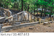 Купить «Ancient Greek city Priene on the western coast of Turkey», фото № 33407613, снято 20 июля 2019 г. (c) Sergii Zarev / Фотобанк Лори