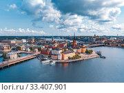 Купить «Panorama of Gamla Stan in Stockholm, Sweden», фото № 33407901, снято 28 августа 2018 г. (c) Коваленкова Ольга / Фотобанк Лори