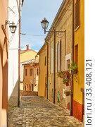 Купить «Santarcangelo di Romagna - Italian cityscape», фото № 33408121, снято 26 февраля 2020 г. (c) Роман Сигаев / Фотобанк Лори