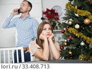 Купить «Offended couple after quarrel», фото № 33408713, снято 15 января 2019 г. (c) Яков Филимонов / Фотобанк Лори