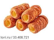Купить «Trdlo or trdelnik sweet pastry of bohemia», фото № 33408721, снято 2 февраля 2020 г. (c) Oksana Zh / Фотобанк Лори