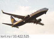 Купить «Ryanair Airlines Boeing 737 EI-DPI taking off from Barcelona Airport», фото № 33422525, снято 26 января 2020 г. (c) Яков Филимонов / Фотобанк Лори