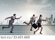 Businesspeople running in competition concept. Стоковое фото, фотограф Elnur / Фотобанк Лори