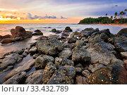 Tropical colorful sunset. Thailand. Стоковое фото, фотограф Zoonar.com/Dmitry Kushch / age Fotostock / Фотобанк Лори