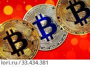 Купить «Physical version of Bitcoin (new virtual money) with colorful effect», фото № 33434381, снято 1 июня 2020 г. (c) easy Fotostock / Фотобанк Лори