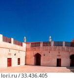 Exterior view to Sheikh Isa Bin Ali Al Khalifa house and mosque in Manama, Bahrain. Стоковое фото, фотограф Zoonar.com/Sergey Mayorov / easy Fotostock / Фотобанк Лори