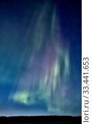 Купить «Northern Lights Saskatchewan Canada Aurora Borealis lake», фото № 33441653, снято 3 июля 2020 г. (c) age Fotostock / Фотобанк Лори