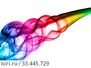 Купить «Bright colorful smoke Abstraction over the white background», фото № 33445729, снято 14 июля 2020 г. (c) age Fotostock / Фотобанк Лори