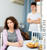 Offended mother and teenage son. Стоковое фото, фотограф Яков Филимонов / Фотобанк Лори